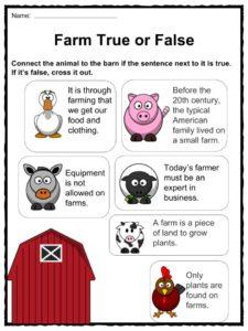 Free Farm Worksheets For Kindergarten Google Search Farm on K A Boo Farm Animals Activity Free Printable