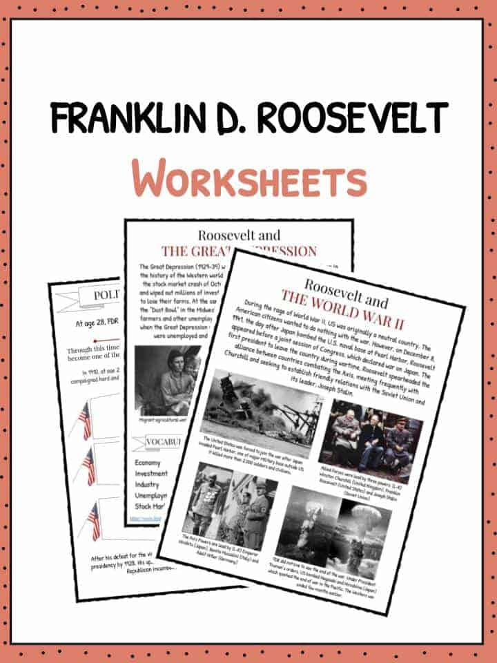 Franklin D Roosevelt Facts Worksheets For Kids – Great Depression Worksheet