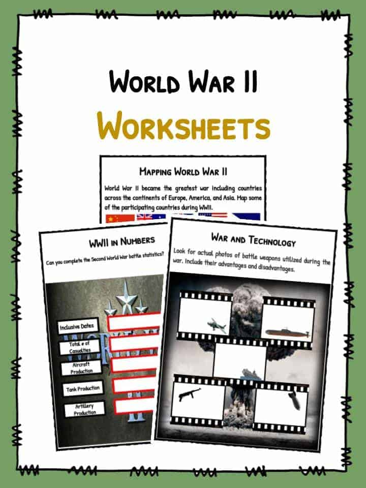 World War II WW2 Facts Worksheets – Ww2 Worksheets