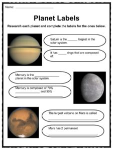 Planet Facts & Worksheets | KidsKonnect