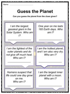 planets and their moons worksheets - photo #39