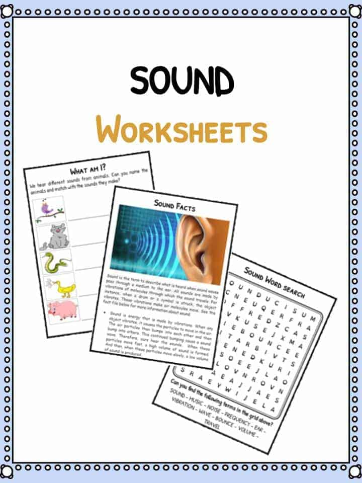 Sound Facts Worksheets For Kids Types Of Sounds