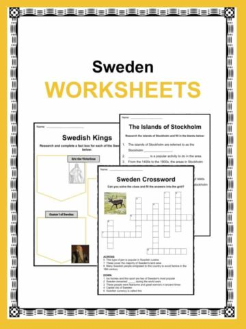 Sweden Worksheets