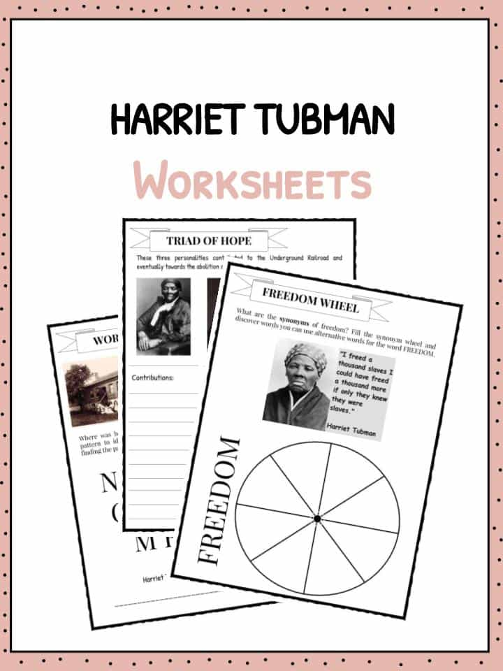 Harriet Tubman Facts Information Worksheets For Kids – Underground Railroad Worksheet