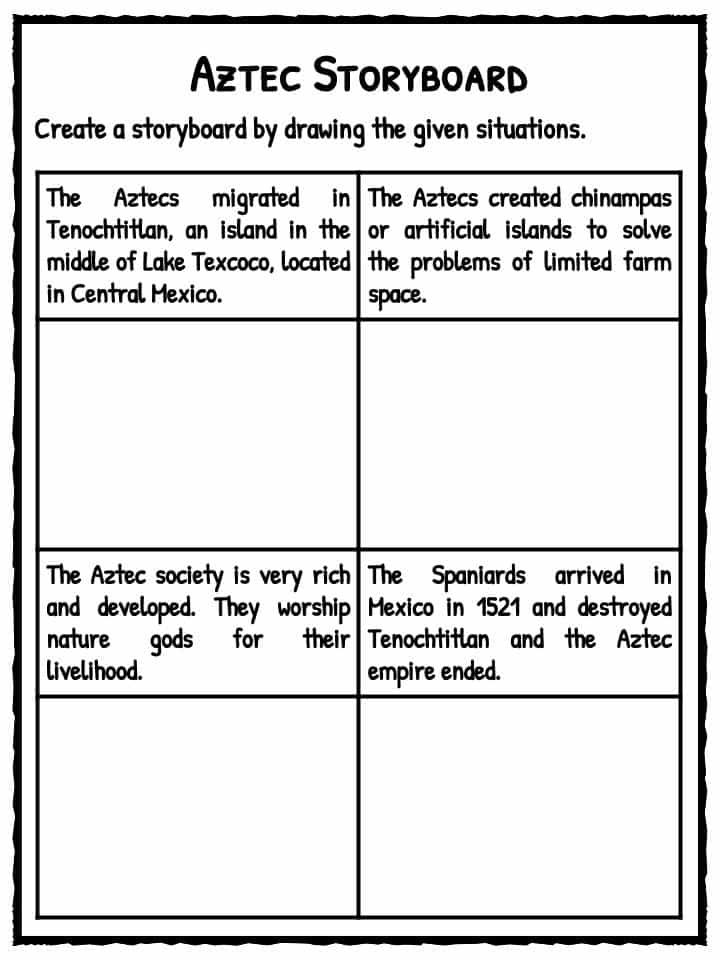 Aztec Storyboard – Aztec Worksheets