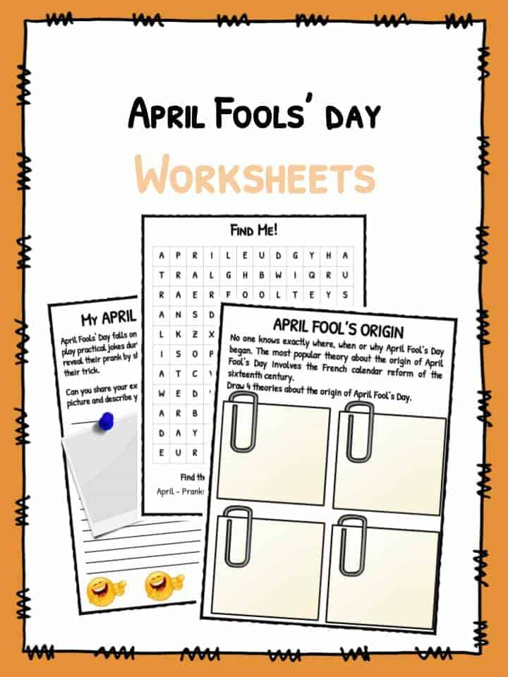 Printable Worksheets rosh hashanah worksheets : April Fools' Day Facts & Worksheets For Kids 2017