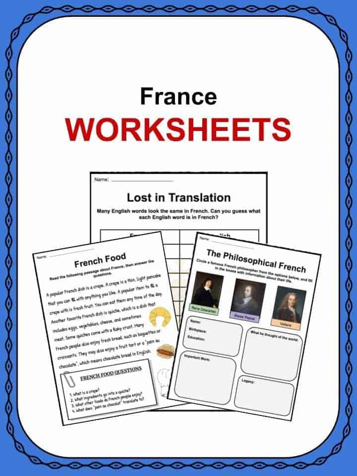 France Worksheets