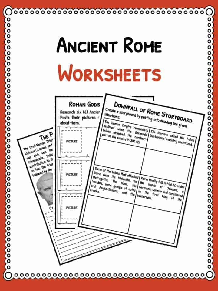 Ancient Rome Facts Information Worksheets – Roman Empire Worksheets