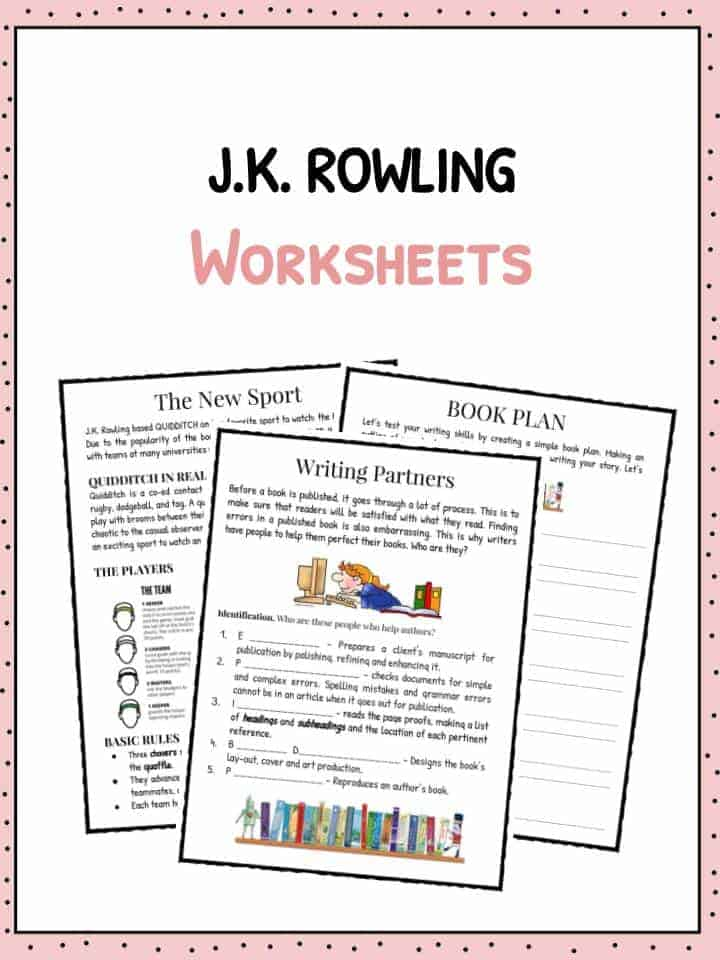 Career Day Worksheets Pdf Jk Rowling Facts Information  Worksheets For Kids Adjectives Worksheets For Grade 2 with Kindergarten Phonics Worksheets Printable Free Pdf Download The Jk Rowling Facts  Worksheets Natural Selection Worksheets Word