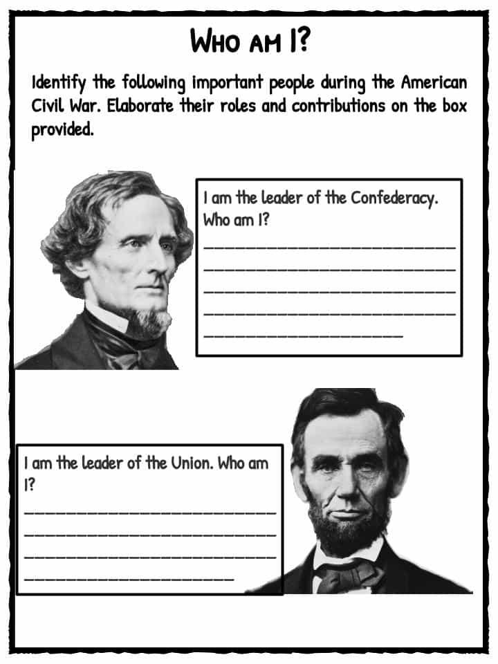 civilwarworksheets – Civil War Worksheets