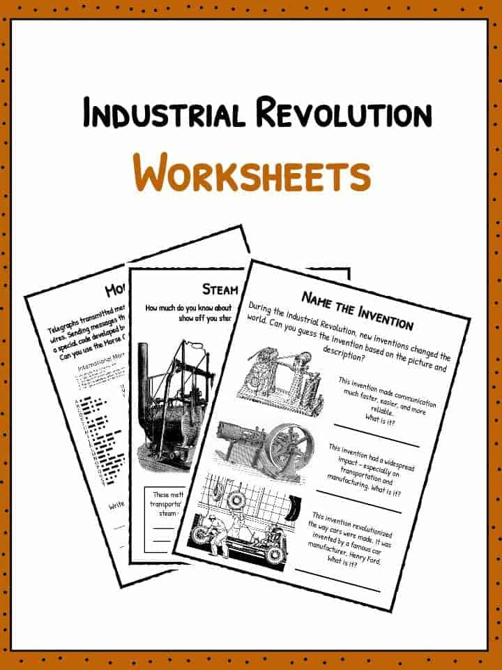 Industrial Revolution Facts Information Worksheets