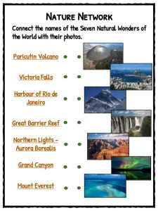 seven wonders of the world facts worksheets kidskonnect new world colors connecting wonders natural network