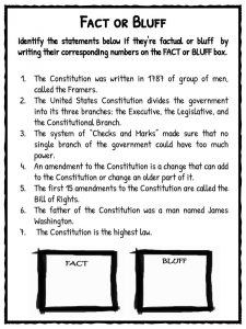 Printables Constitution Worksheet us constitution facts worksheets teaching resources fact or bluff