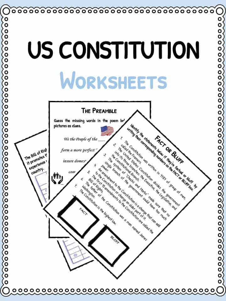 US Constitution Facts Worksheets – Us Government Worksheets