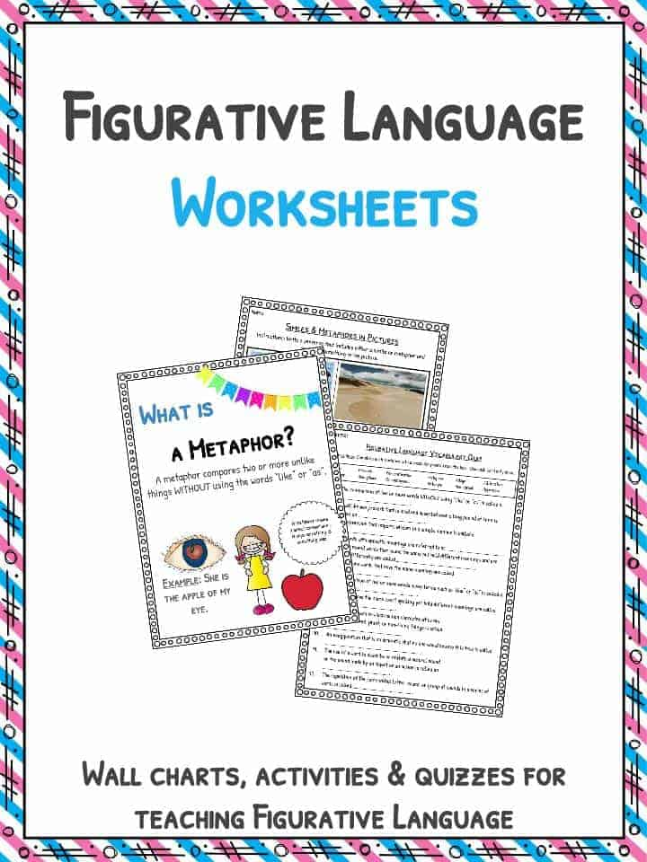 figurative language worksheets definition examples  the figurative language worksheets examples