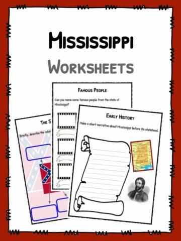 Mississippi Worksheets