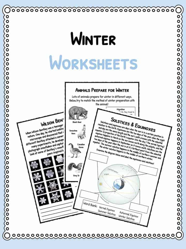 Pythagorean Theorem Word Problems Worksheet Word Winter Facts Information  Worksheets For Kids  Teaching Resource 2nd Grade Contraction Worksheets Pdf with Fractions Decimals And Percents Worksheets Excel Download The Winter Facts  Worksheets Ixl Worksheets Word