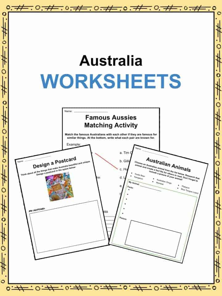 Australia Facts Worksheets Information For Kids – Australia Worksheets