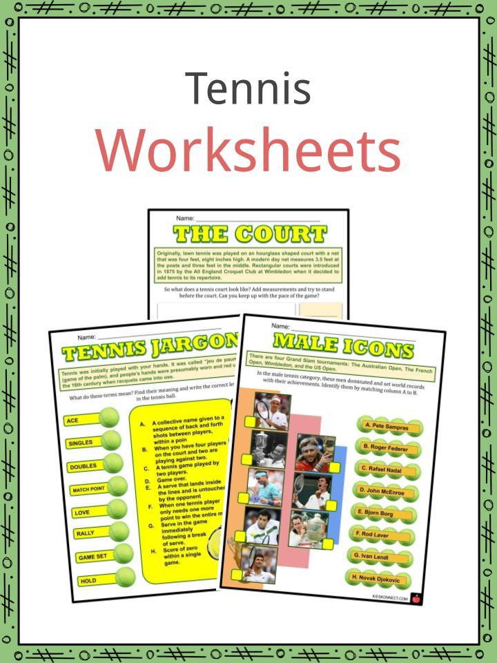 Tennis Worksheets