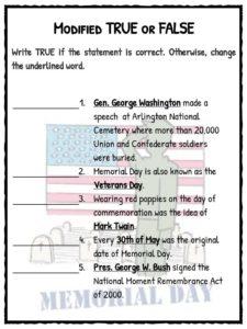 memorial day facts worksheets historical information for kids. Black Bedroom Furniture Sets. Home Design Ideas