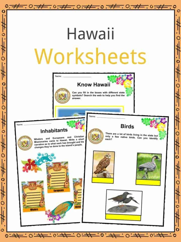 Hawaii Worksheets
