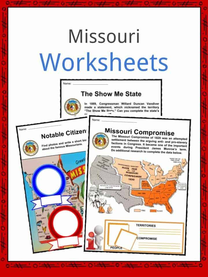 Missouri Facts Worksheets Amp State Historical Information