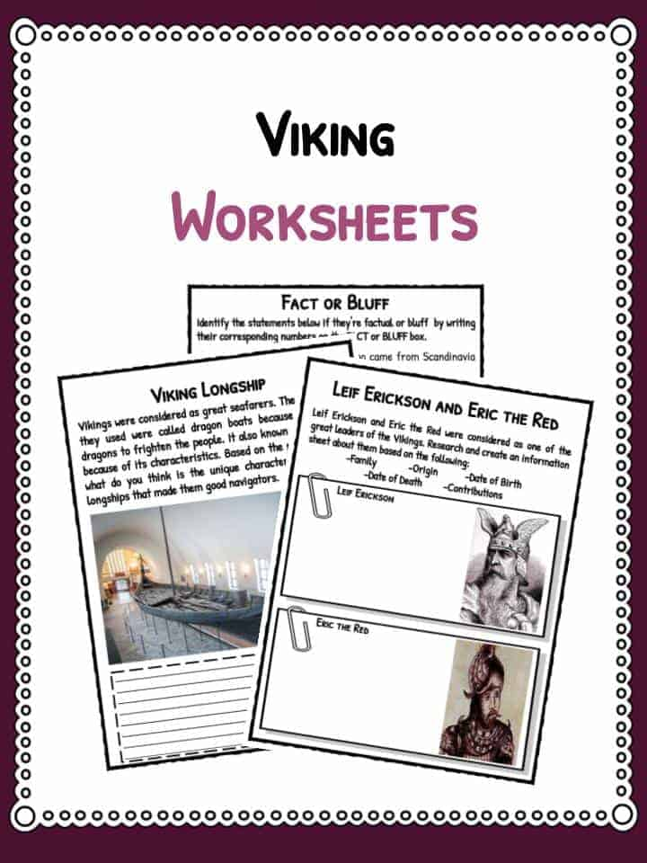Viking Facts Information Amp Worksheets For Kids Teaching