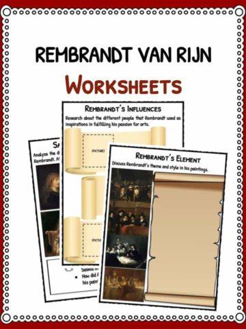Rembrandt van Rijn Worksheets