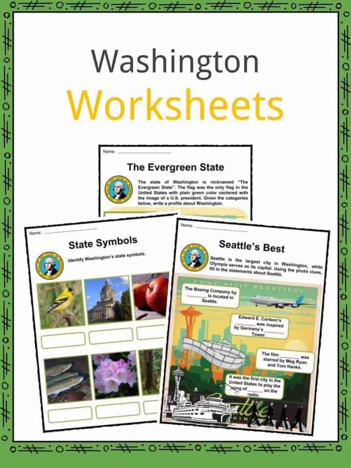 Washington State Facts Worksheets Historic Information For Kids – Wa Child Support Worksheet