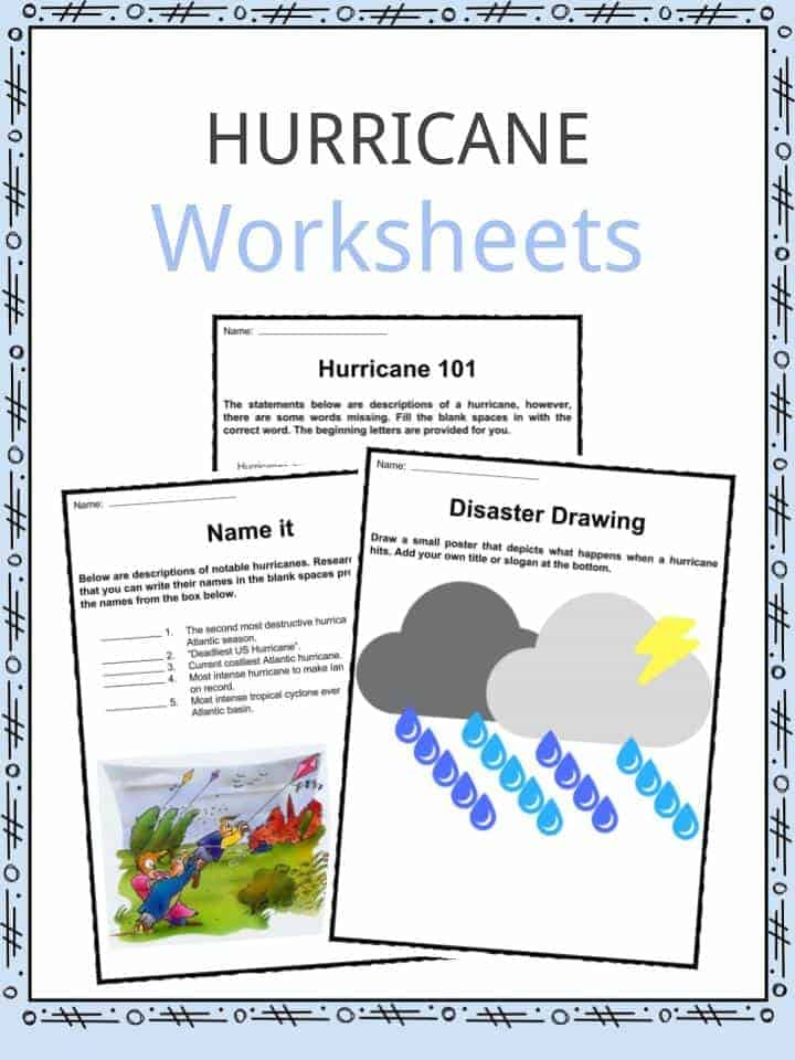 Hurricane Worksheets