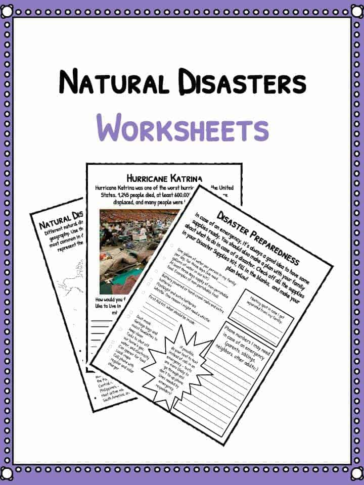 Natural Disaster Worksheets Facts Historical Information For Kids – Natural Disasters Worksheets