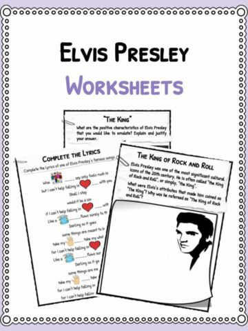 Elvis Presley Worksheets