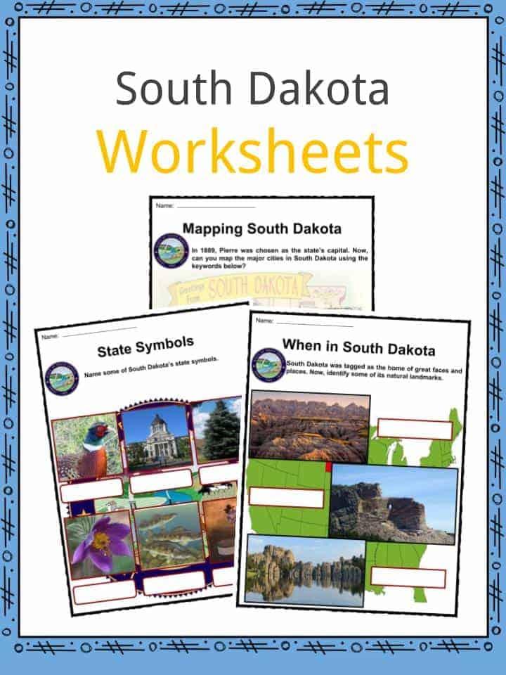 South Dakota Worksheets