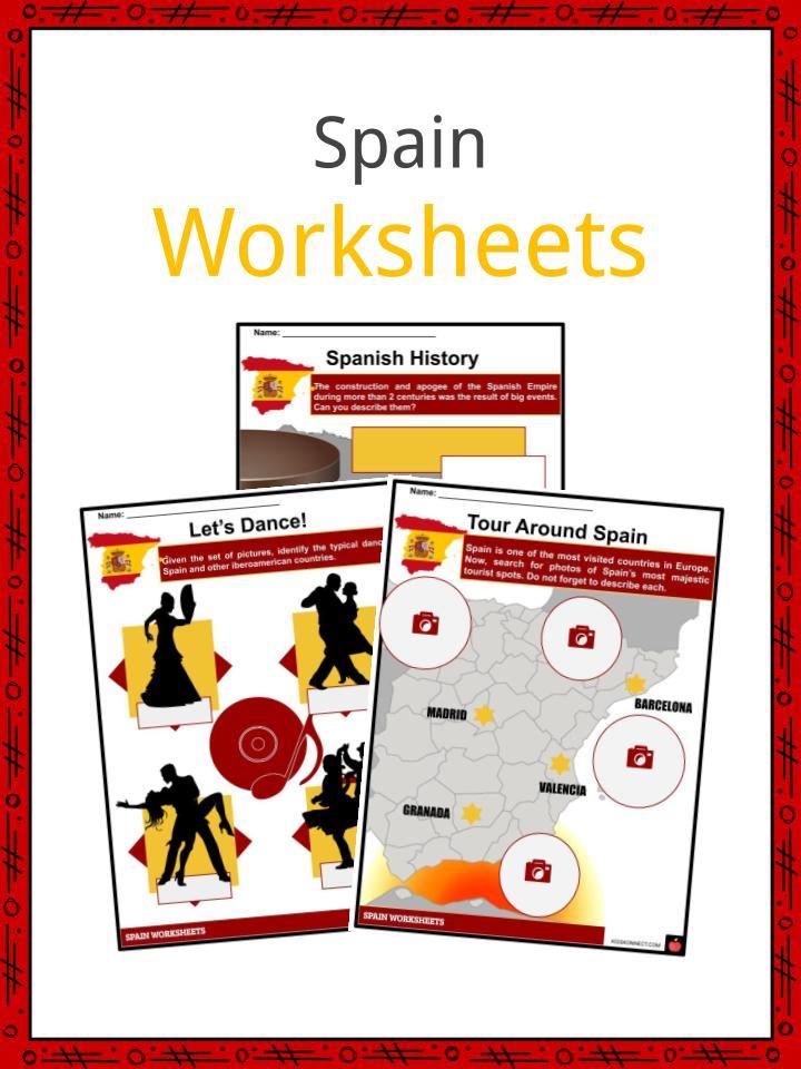 spain facts worksheets history flag people culture for kids. Black Bedroom Furniture Sets. Home Design Ideas