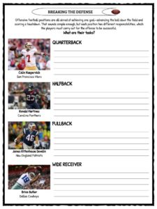 Football American Football Facts Amp Worksheets For Kids