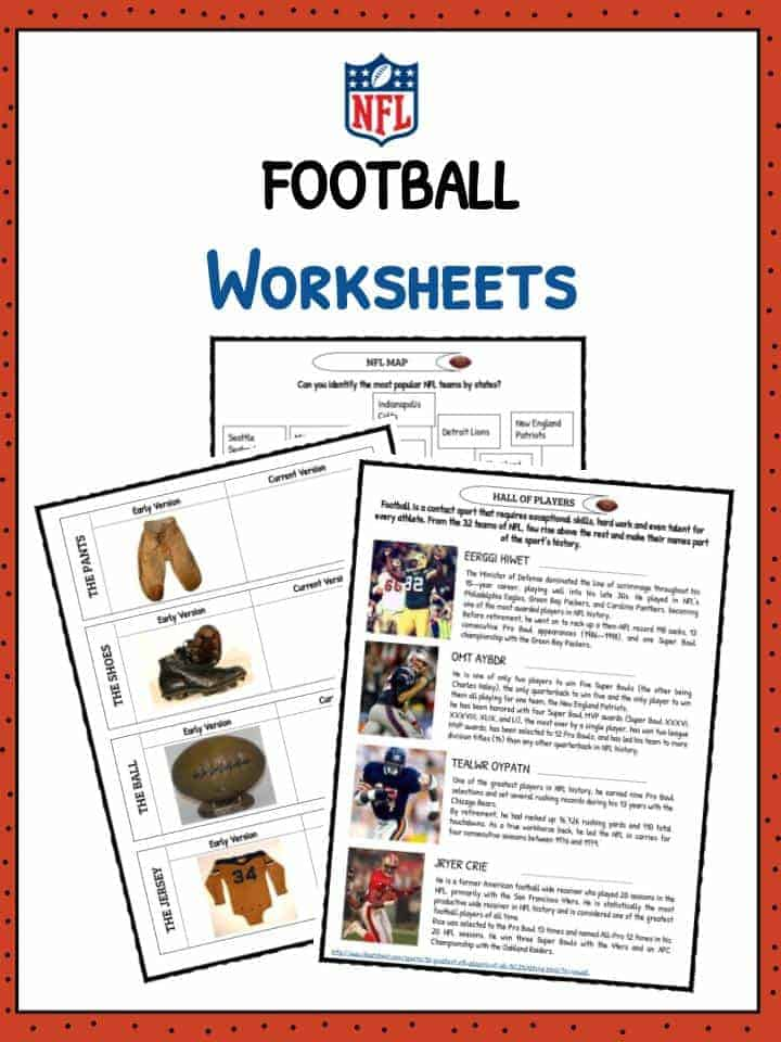 football american football facts worksheets for kids. Black Bedroom Furniture Sets. Home Design Ideas