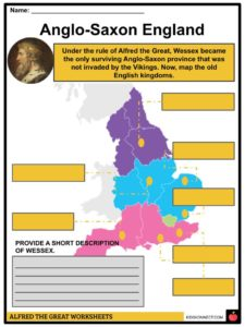 Map Of England King Alfred.Alfred The Great Facts Information Biography For Kids