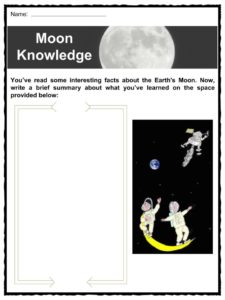 The Moon Facts, Worksheets & Lunar Satellite Information For