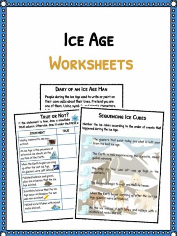 Ice Age Facts & Worksheets