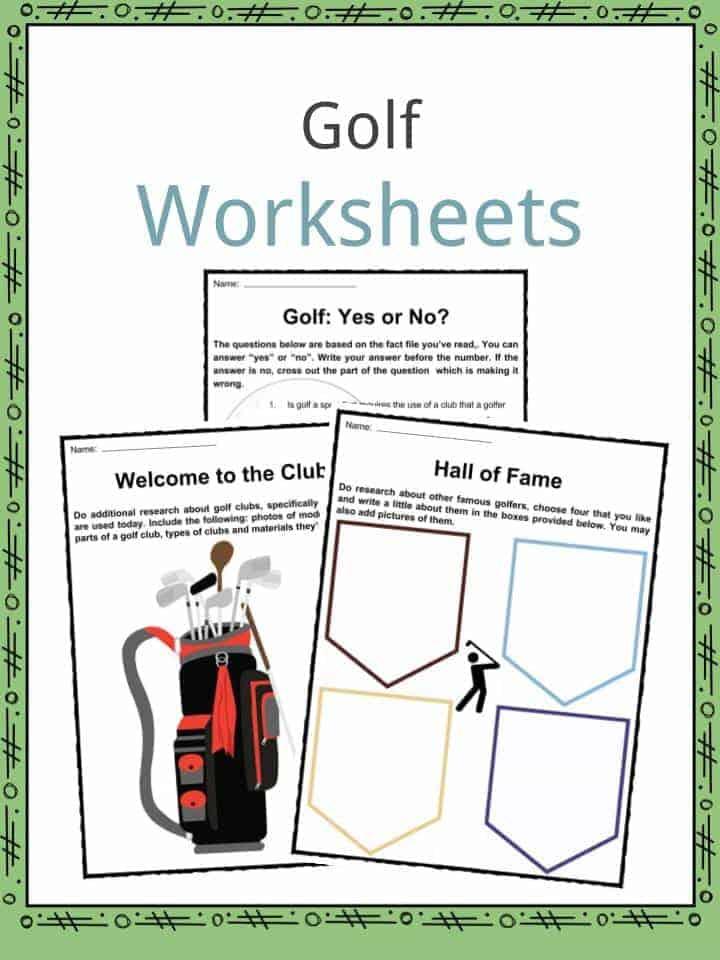 Golf Worksheets