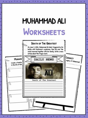 Muhammad Ali Worksheets