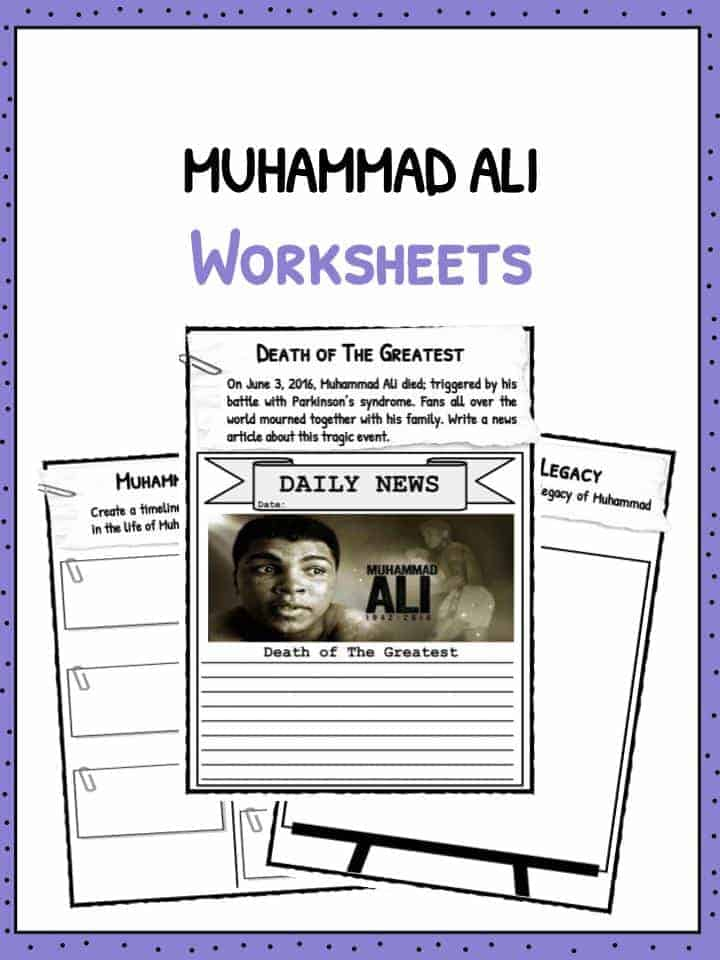 muhammad ali facts worksheets for kids teaching resource. Black Bedroom Furniture Sets. Home Design Ideas
