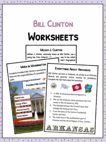 Bill Clinton Facts & Worksheets