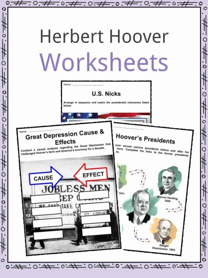 Herbert Hoover Worksheets