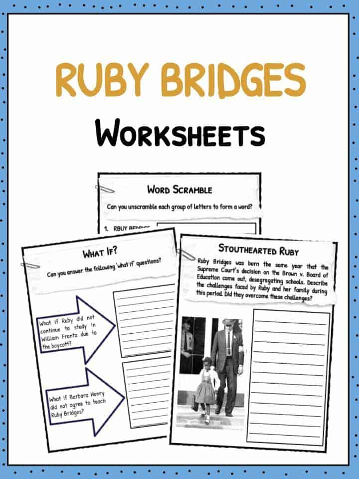 Ruby Bridges Facts & Worksheets