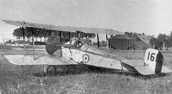 The Scout C WW1 plane, flown by Lanoe Hawker on 25 July 1915