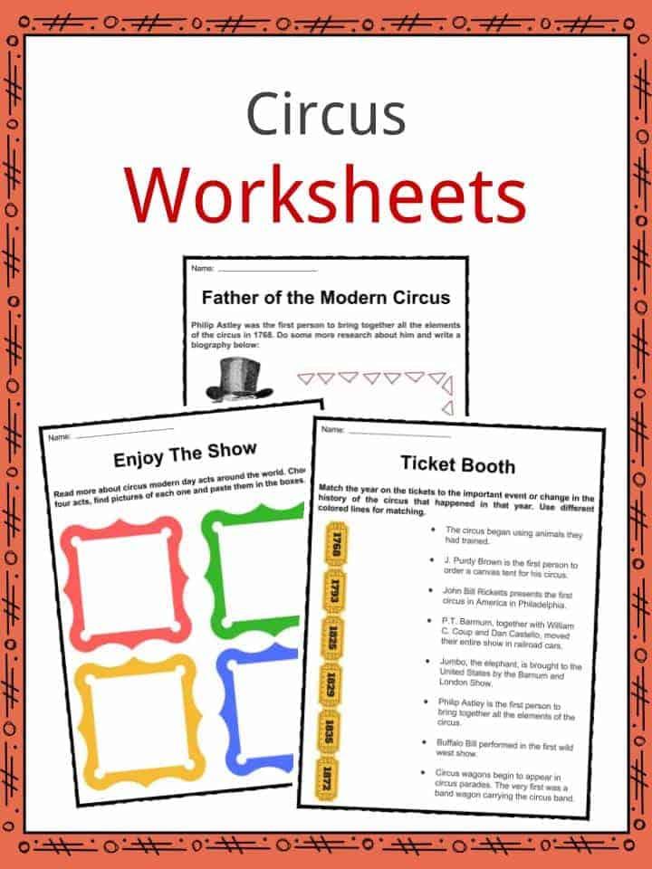 Circus Worksheets
