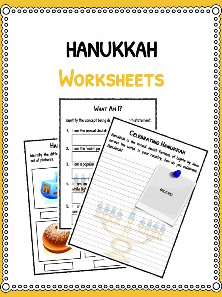 Hanukkah Worksheets Facts Information For Kids – Hanukkah Worksheets