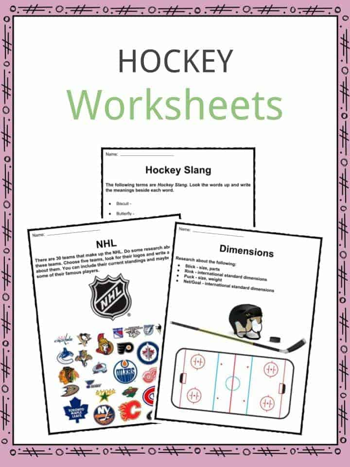 Hockey Facts, Worksheets, Information & Sport History For Kids