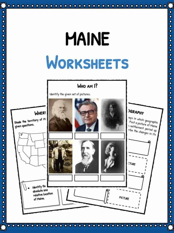 the state of maine facts worksheets historical information for kids. Black Bedroom Furniture Sets. Home Design Ideas